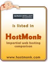 Server Intellect is listed in HostMonk (www.hostmonk.com)
